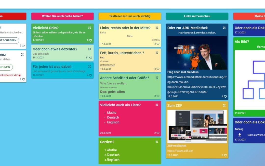 Taskcards – eine deutsche Padletvariante